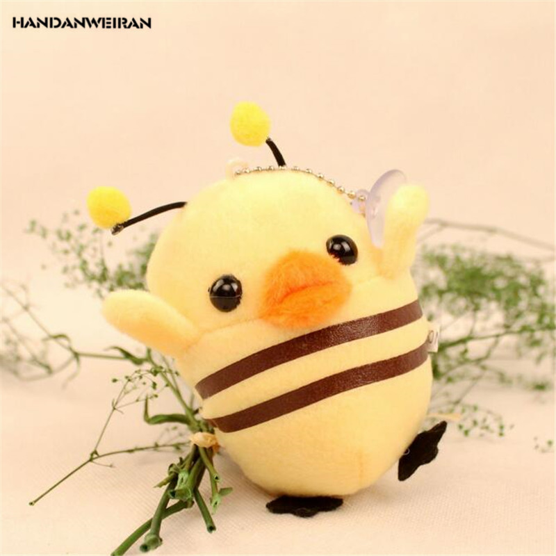 HANDANWEIRAN 1Pcs PP Cotton New Kawaii 10CM Cartoon Chick Stuffed Toys Cute Animal Pendants Gift Dolls Plush Toy For Kid's Party