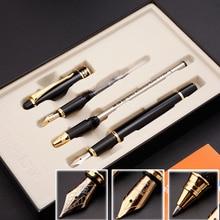 Di alta Qualità Tre Penna Set Regalo Scatola di 0.5 millimetri e 1.0 millimetri Iraurita Stilografica penna roller full metal 1047