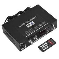 EU plug G30 MP3 Music HiFi Stereo Amplifier USB/TF Card/AUX Bluetooth HiFi Amplifier FM Radio with Remote