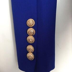 Image 5 - Blazer à Double boutonnage pour femmes, de haute qualité, style Baroque, boutons lions en métal, taille 2020