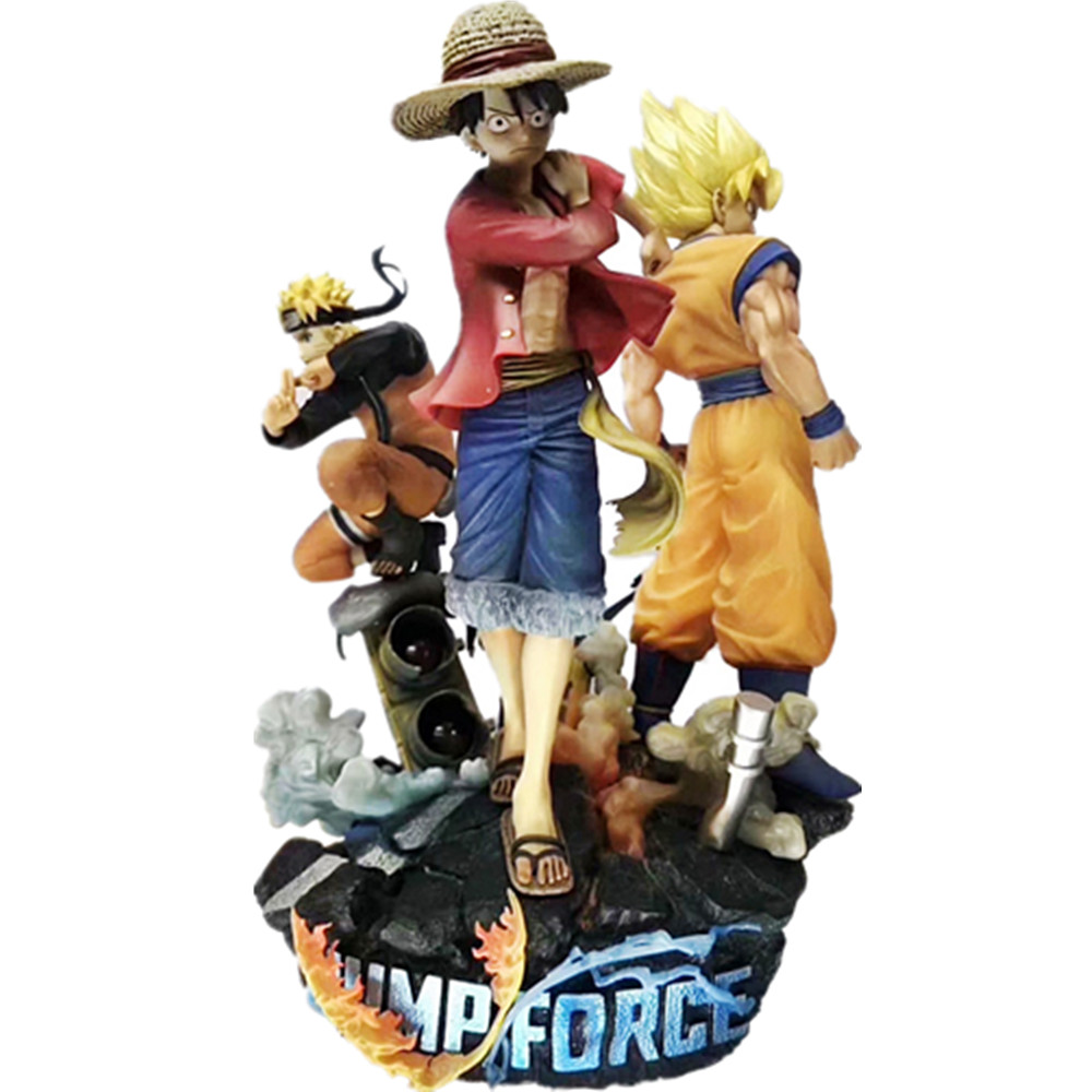 Game Jump Force ONE PIECE Naruto Dragon Ball PVC Action Figure 180mm Anime Game Luffy Goku Naruto Figurine Toy Diorama image