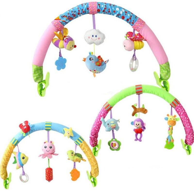 Новорожденных Детские коляски автомобиль клип висит сиденье и коляски Игрушечные лошадки Ocean Forest небу летит животных мобильного игрушка-погремушка скидка 20%
