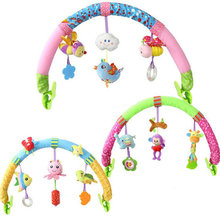 Newborn Baby Stroller Car Clip Hanging Seat & Stroller Toys Ocean Forest Sky Flying Animal mobile Rattle toy 20% off(China)