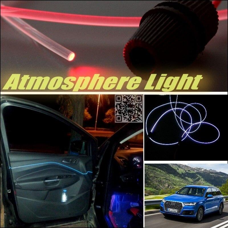 For Audi Q7 4L Car Atmosphere Light Fiber Optic Band Interior Refit / Uniformity No Dizzling Cab Inside DIY Air light