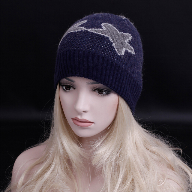 2016 New brand winter Casual Skullies & Beanies Fashion Hats Star pattern Beanies Winter Gorros for Female Knitted hat
