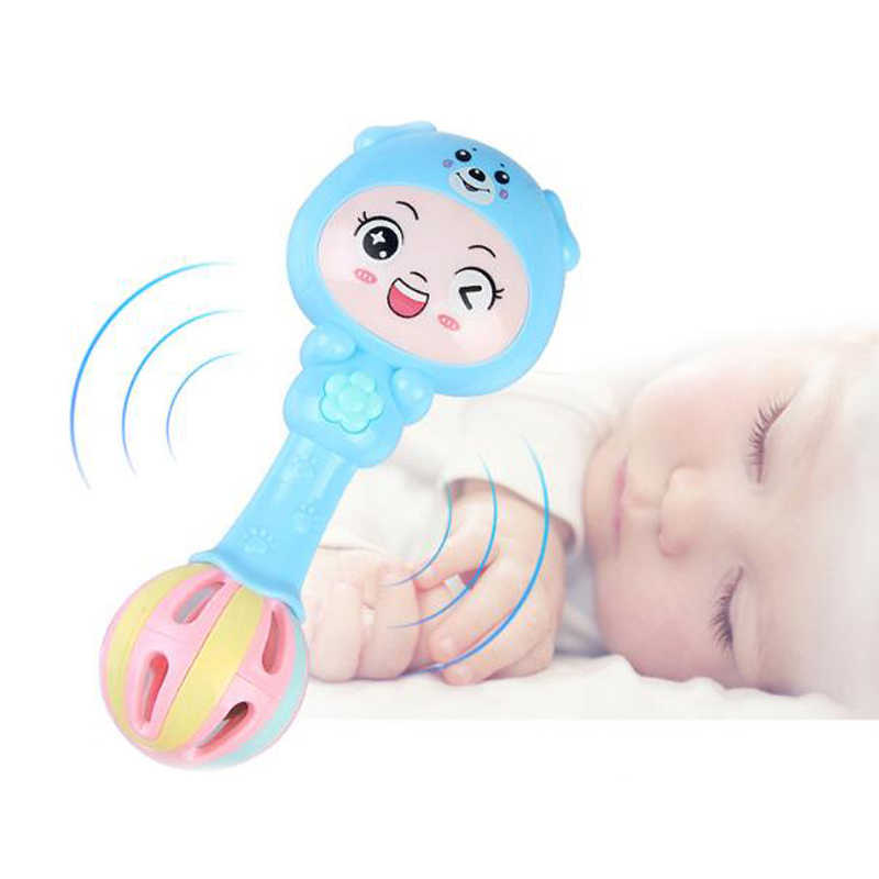 1 Pc Cartoon Music Rhythm Stick Rattle Baby Educational Toys for Kids Sleeping Kawaii Hand Bell Comfort Games Boys Girls Gifts