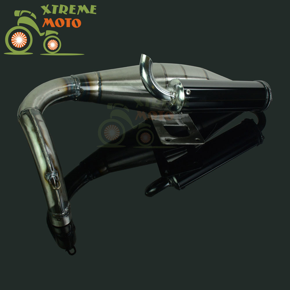 Motorcycle Full Exhaust System Muffler Pipe Scooter Moped Racing Street Bike For Honda JOG50 JOG 50 wholesale 1pcs rc brushed esc 20a brush motor speed controller w brake for rc 1 16 1 18 car boat tank drop free shipping page 7