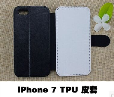 2D Sublimation Blank Flip Leather PU TPU Case Cover for IPhone 5 6 7 8 plus