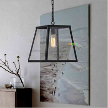 Черный старинные металлические промышленные подвесные светильники для столовая Кухня гостиная люстры де teto эдисон подвесные светильники лампы