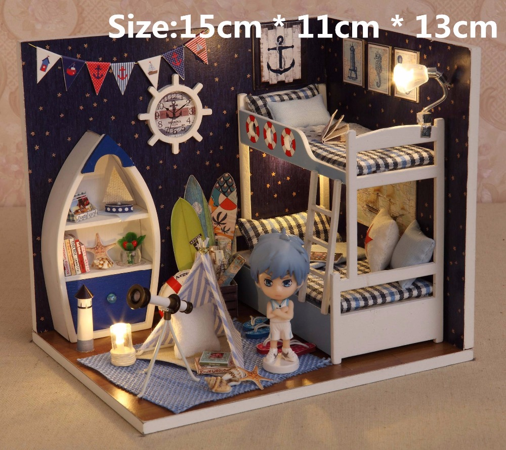 Hot Sale Doll House Diy Miniature Dollhouses Model Wooden Toys