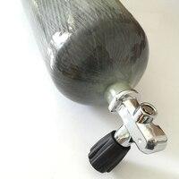2016 Hot Sale 4500psi 300bar 6 8L Carbon Fiber Paintball Composited Gas Cylinder With Diving Valve