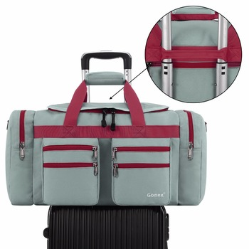 Gonex 45L Men Travel Duffel Gym Sports Luggage Bag Water-resistant Duffel with Shoes Pockets Multifunctional 2