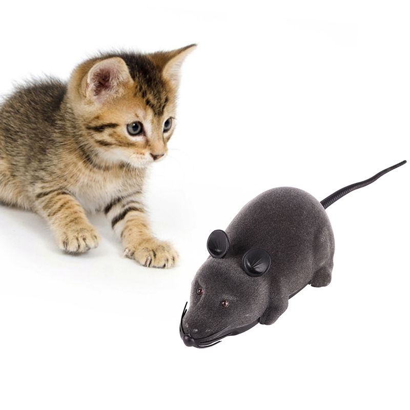 Funny Cat Toy Wireless Remote Control Mouse Electronic RC Rat Mice Toy Pet Cat Toy Mouse
