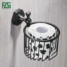 FLG Paper Holders ORB Brass Wall Shelf Toilet Basket Bathroom Accessories Holder Sets Roll