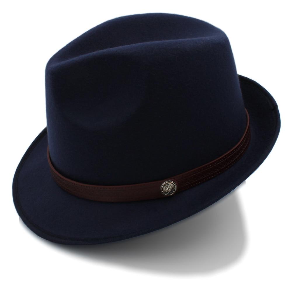 Мужская фетровая шляпа федора для джентльмена, Зимняя шерстяная фетровая шляпа в стиле Дерби котелок, размер 58 см, для зимы и осени|Женские пляжные шляпы|   | АлиЭкспресс
