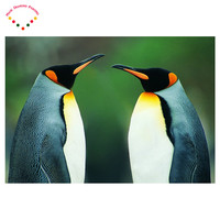 5d Diy Diamond Painting Diamond Rhinestone Kit Diamond International Emblem Painting Porches Animal Lovely Antarctic Penguins