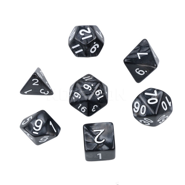 aliexpress com buy multi sided dice set with marble effect d4 d6