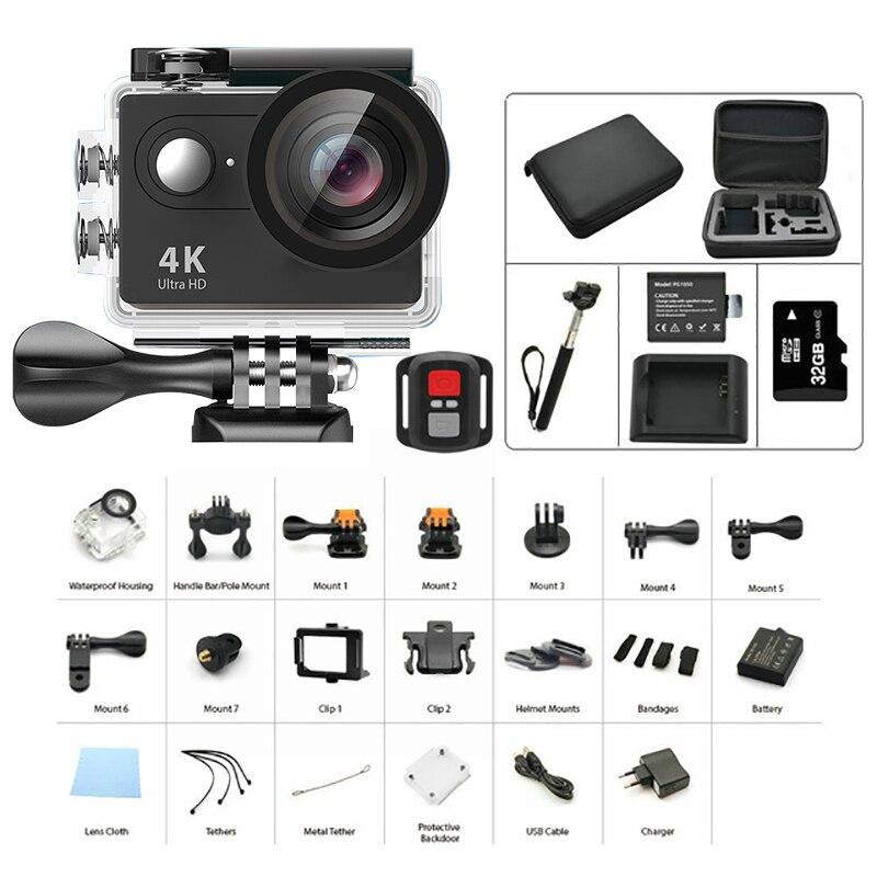 Original H9 H9R Action Camera 4K yi FHD remote Ultra WIFI eken 1080P 60fps go 4 K kamera pro hero sj mi 7000 cam sport Camera