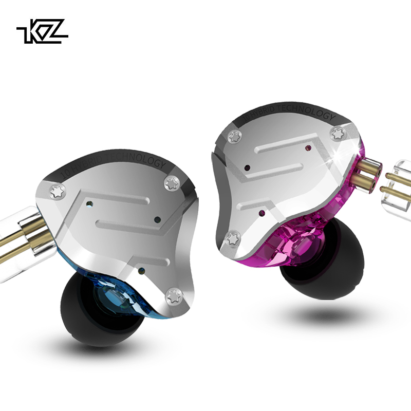 KZ ZS10 Pro écouteurs 4BA + 1DD hybride dans l'oreille casque HIFI casque DJ moniteur écouteurs écouteurs KZ ZS10 AS10 ZST CCA C10 C16
