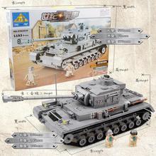 Второй мировой войны Военная война бак 3D модель PZKPFW-II Строительные блоки Устанавливает Танк DIY образования елочную игрушку для детей