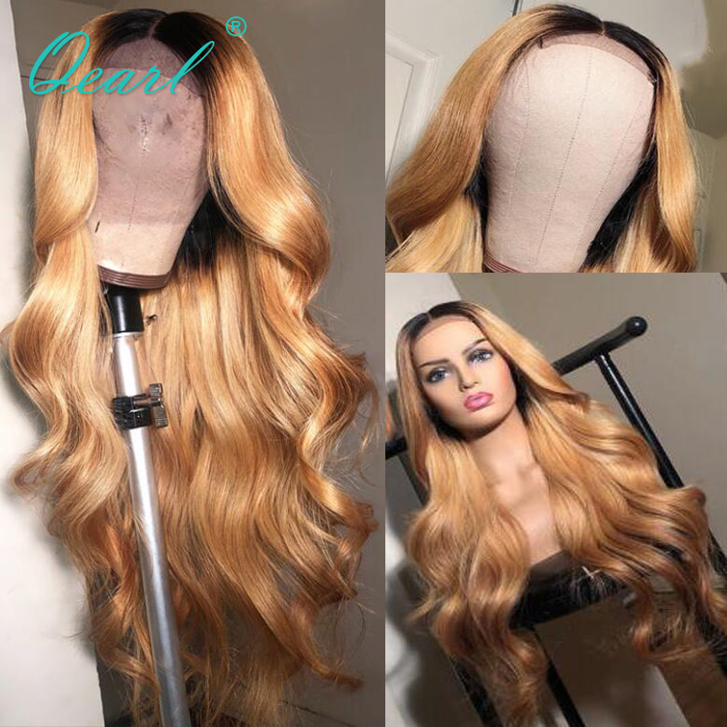 Brazilian Human Hair Wigs With Baby Hair Body Wave 13x6 Lace Front wig Remy Hair Ombre