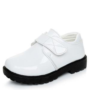 Image 2 - جديد بنين أحذية من الجلد النمط البريطاني مدرسة الأداء أطفال أحذية الحفلات الزفاف أبيض أسود أحذية الأطفال الأخفاف غير رسمية