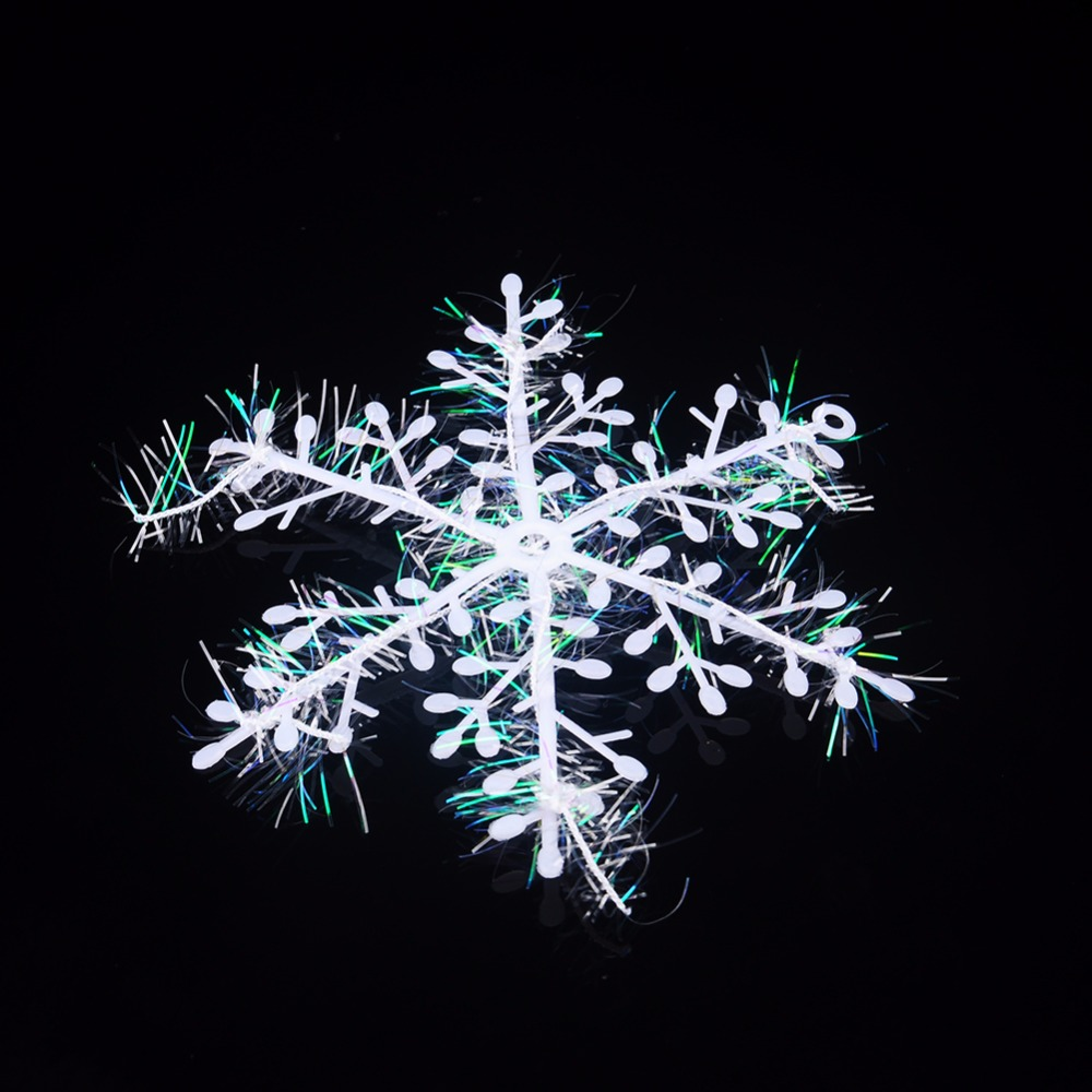 Christmas snowflake ornaments - 21pcs 7pack 11cm Christmas Snowflake Decor Christmas Tree Ornaments Holiday Festival Party Home Decor New