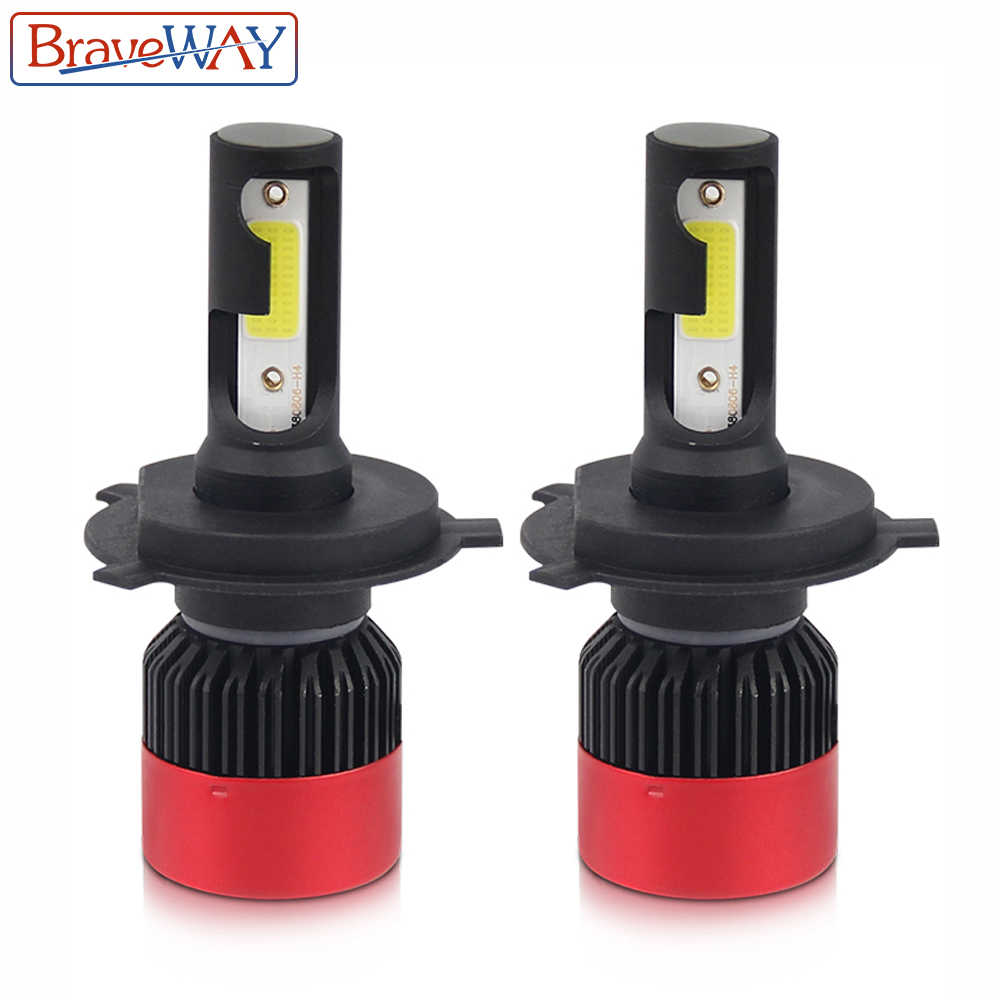 BraveWay H4 Led Headlight 6500K Lamps H7 Led Bulb Color Car Fog Lamp Small Size H1 H3 Led Lamp H8 H11 HB3 BH4 Lights