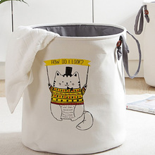 Household Folding Laundry Basket Cartoon Storage  Standing Toys Clothing Bucket Organizer Holder Pouch