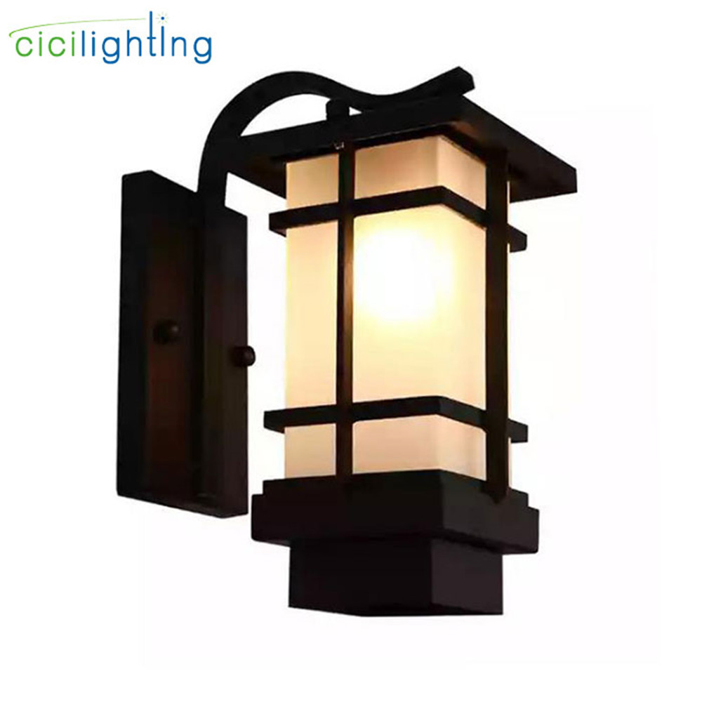 Europe style villa garden wall light fixtures industrial vintage store outdoor wall lights black waterproof entrance proch lamp