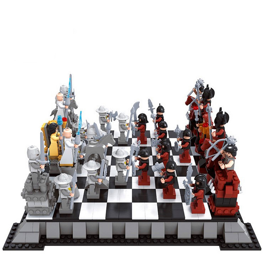 Genuine ENLIGHTEN 27907 1142pcs Castle Series International Chess Model Building Block Toys Gift For Children Compatible Legoe enlighten 2314 war of glory castle knights shop model building block 368pcs educational toys for children compatible legoe