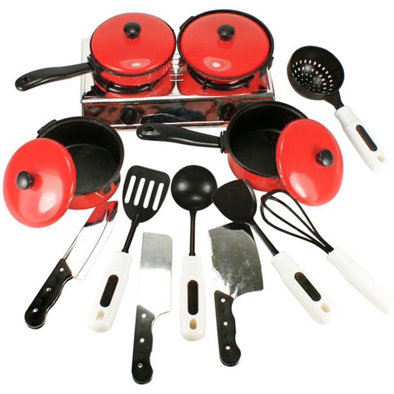unidsset classic kids pretend play toys nios simulacin divertida utensilios de cocina ollas