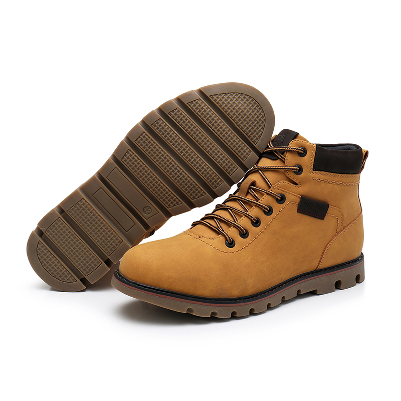 Basic Boots Kulada 2019 Mens Ankle Boots Leather Comfortable Spring&autumn Warm Waterproof Fashion Men Casual Lace-up Shoes