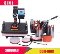 Cheap Promotions 29*38CM 8 in 1 Combo Heat Press Printer Machine 2D Thermal Transfer Printer for Cap Mug Plate T shirts Printing