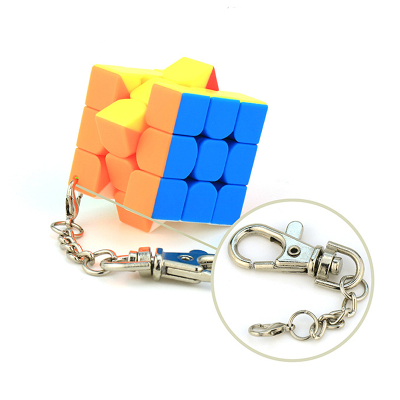 Cubing Classroom 3.5cm Keychain Magic Cubes 3x3 Speed Puzzle Cubes Multicolor Creative Cube Hang Decorations