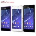 """Разблокирована Оригинальный Sony Xperia D2303 D2306 Мобильный телефон Quad Core Android 1.2 ГГц 4.8 """"Одноместный Sim 3 Г WCDMA 8MP Multi-язык"""