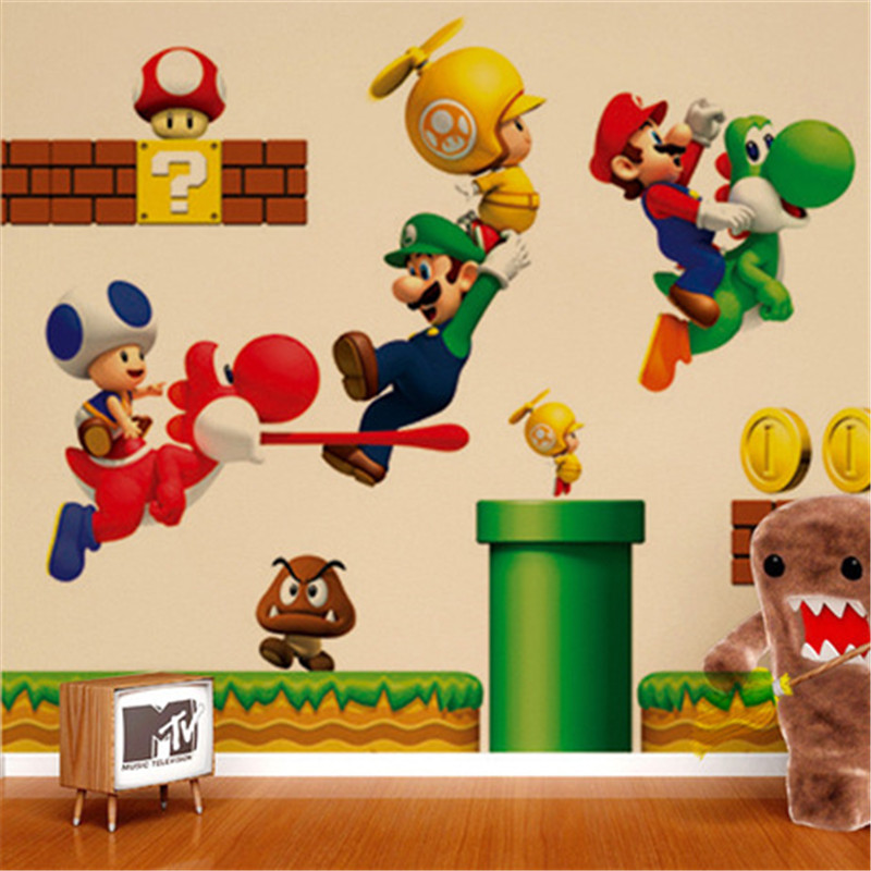 best top super mario bros wall stickers decals brands and