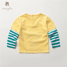 Boys Cotton Tees T-shirt for Little Boy With Long Sleeve 2017 New Kids Top Brand Children Shirt Kids TShirt Clothes X3256