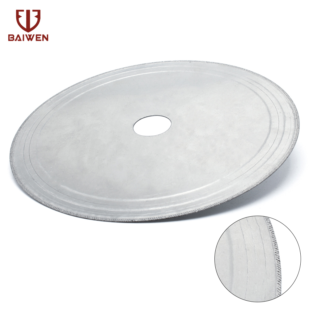 180MM Diamond Lapidary Saws Trim Blade Super Thin Edge Wet Cutting Disc Jewellery Tools For Glass Stone Or Rock Aperture 25mm