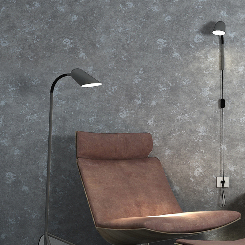 Solide Zement Senior Grau Farbe Industriellen Stil Tapete Home Wohnzimmer  Bekleidungsgeschäft Club Rollen Tapeten Papel De