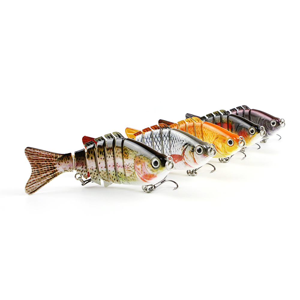 Mmlong 4 Popular Fishing Lure 7 Jointed Sections Swimbait 12.5g Lifelike Crankbait 3D Eyes Hard Fish Bait Wobbler Tackle AL01 tsurinoya fishing lure minnow hard bait swimbait mini fish lures crankbait fishing tackle with 2 hook 42mm 3d eyes 10 colors set