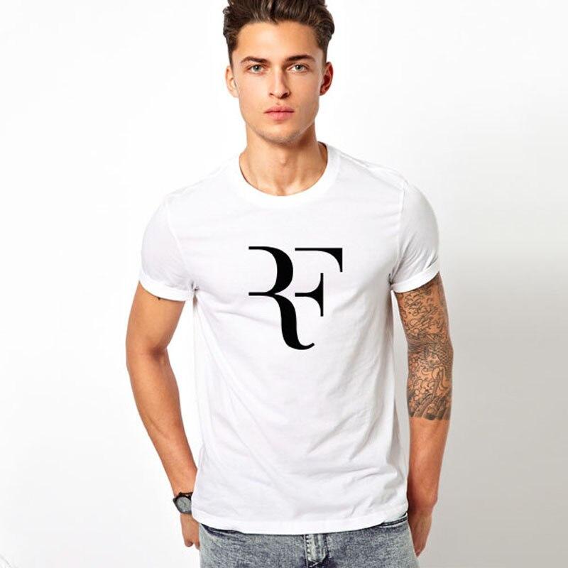 Free shipping roger federer federer t shirt rf tshirt for Free gym t shirts