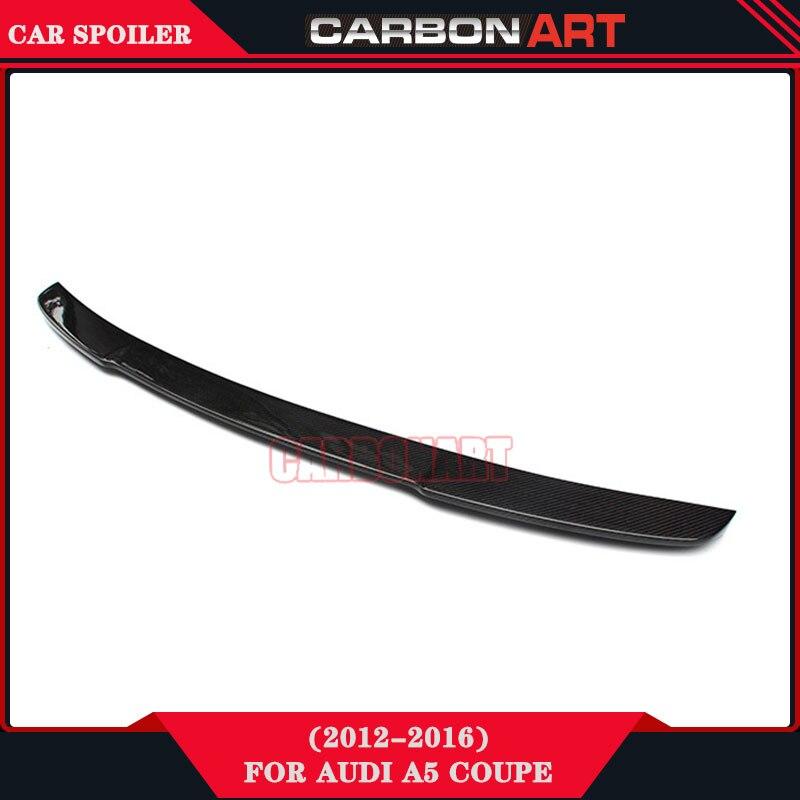 Carbon Fiber Auto Tuning V Style Design Rear Lip Spoiler For Audi A5 Coupe Quottro TFSI 2 Doors
