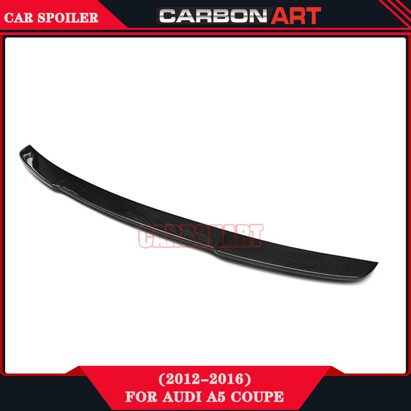 Carbon Fiber Auto Tuning V Style Design Rear Lip Spoiler for Audi A5 Coupe Quottro TFSI 2 Doors carbon fiber nism style hood lip bonnet lip attachement valance accessories parts for nissan skyline r32 gtr gts