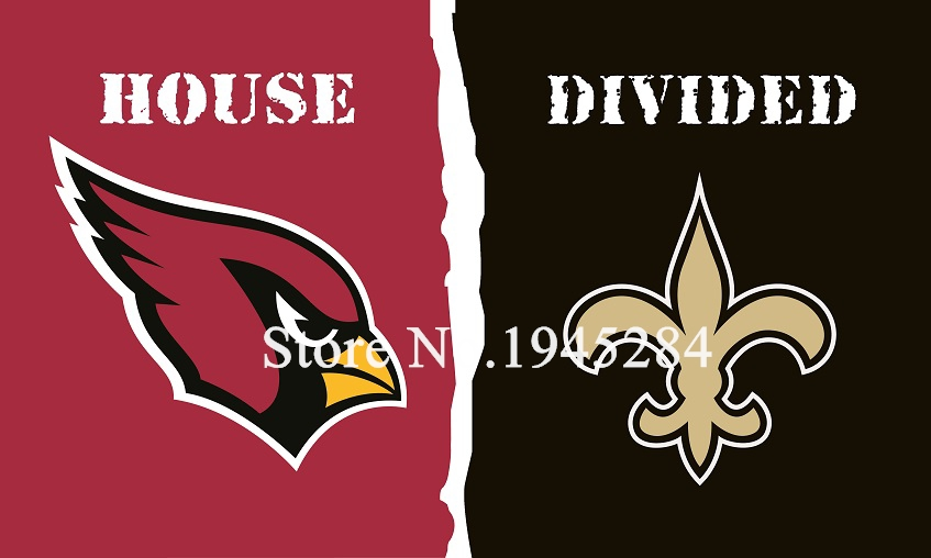 Nfl Arizona Cardinals New Orleans Saints Dom Divided Oznacz 150x90