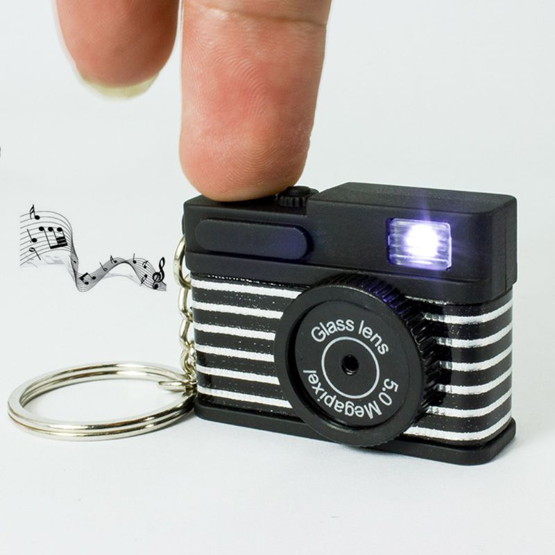 New Mini Toy Camera Keychain With Bell Pendant Bag Accessories Kids Toy Gift