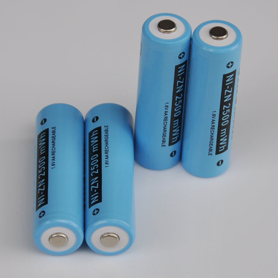 8-12PCS 1.6V Ni-Zn AA rechargeable battery 2500mwh NiZn Ni zn cell for camera toys replacement alkaline ni-mh ni-cd batteries