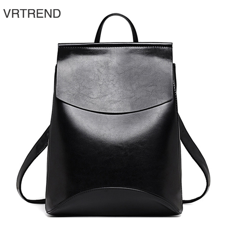 VRTREND Teenage Girls PU Leather Backpack School Shoulder Bag Backpacks For Youth Women Female Minimalist Casual