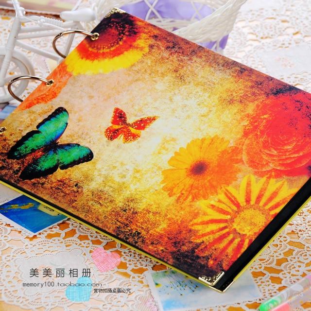 Diy photo album handmade lovers baby  multicolour membrane waterproof