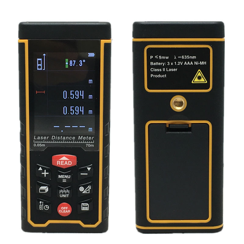 SW-S70 Direct Factory Color display Rechargeable 70m Laser distance meter Rangefinder Tape with Bubble Level measure Area/Volume rechargeable color display high precision laser rangefinder distance meter tape measure with bubble level measure area volumes70